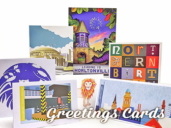 Chorlton Art Market Greetings cards